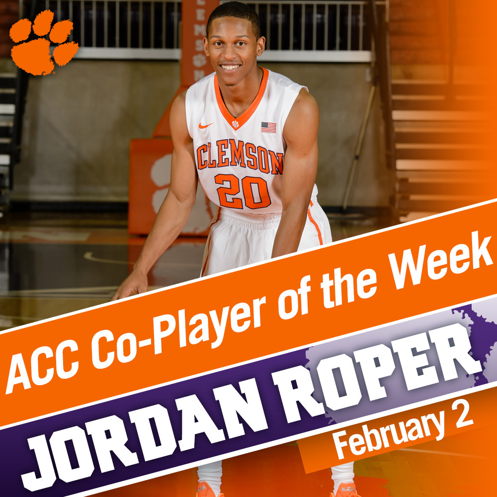 Roper ACC Co-Player of the Week