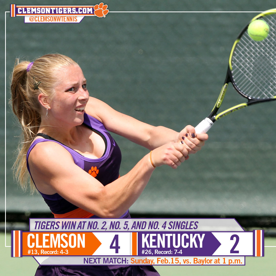 Tigers Rebound to Defeat No. 26 Kentucky Sunday at ITA Indoors