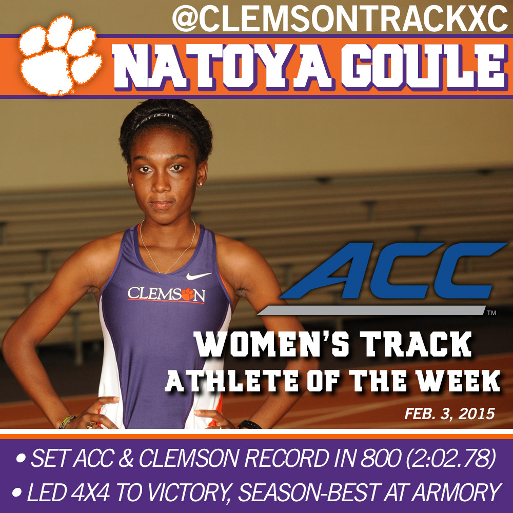 Goule ACC Women's Track Athlete of the Week