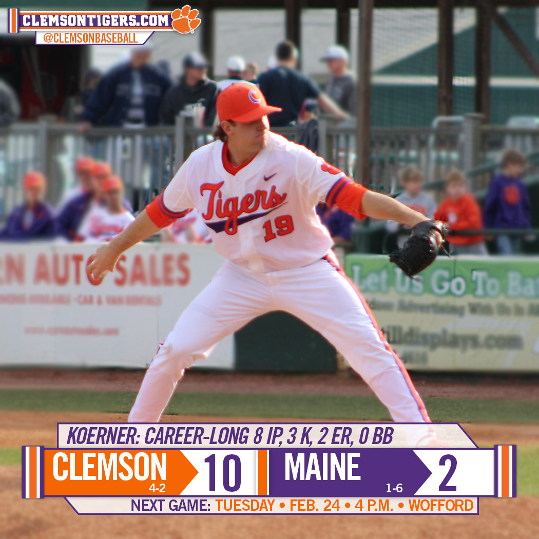 Tigers Sweep Maine With 10-2 Win in Second Game of Doubleheader Saturday