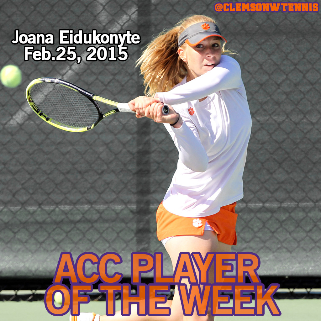 Eidukonyte Named ACC Player of the Week