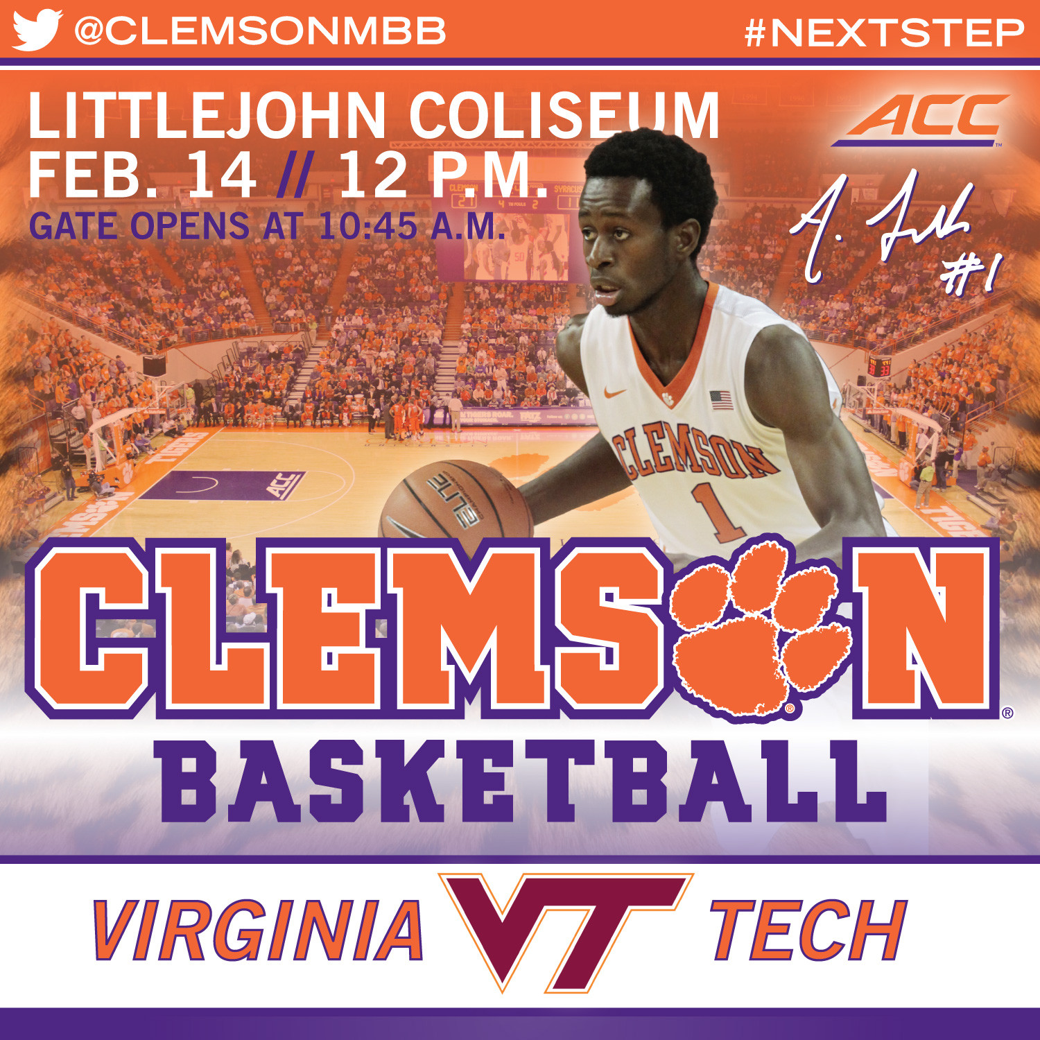 Clemson Hosts Virginia Tech Saturday