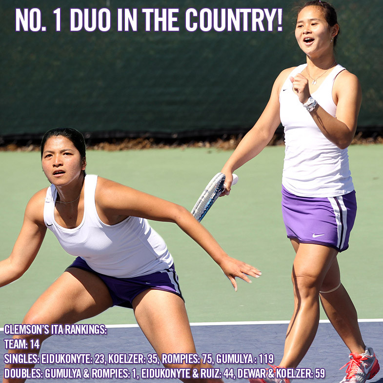 Gumulya & Rompies No. 1 Duo in Country, Tigers Prevalent in ITA Rankings