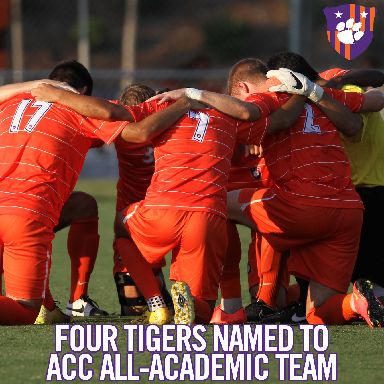 Four Clemson Men?s Soccer Players Named to All-ACC Academic Team
