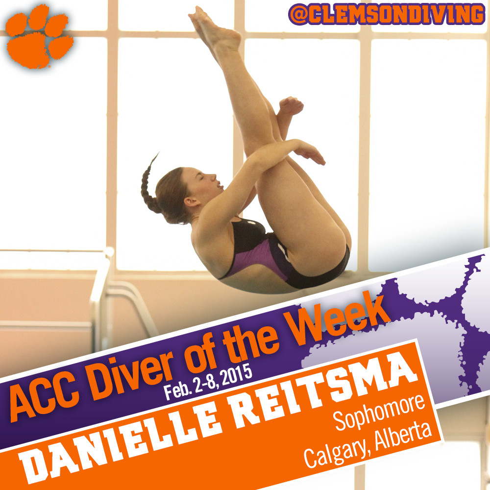 Reitsma Earns ACC Diver of the Week Honors