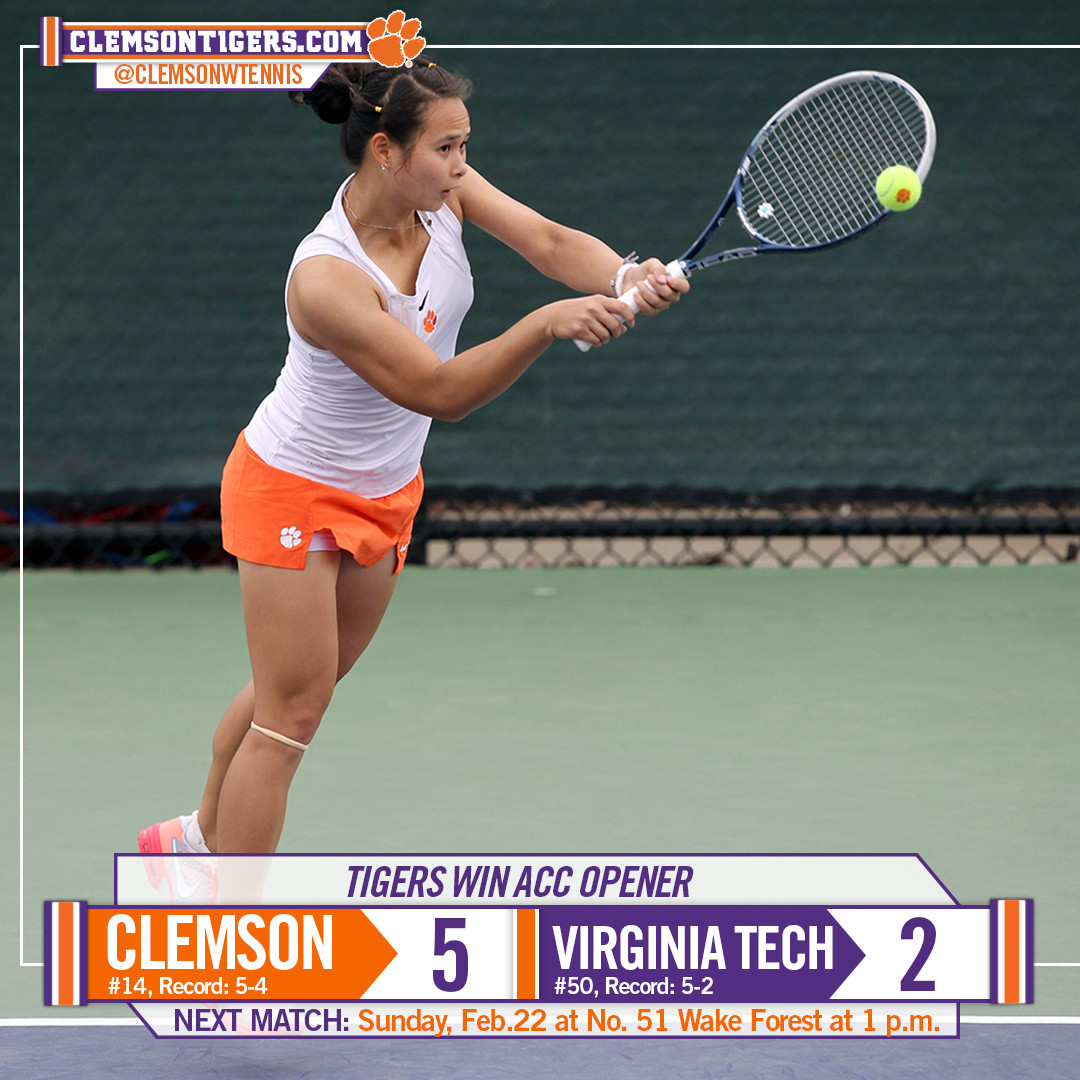 Tigers Open ACC Season with Win over Hokies