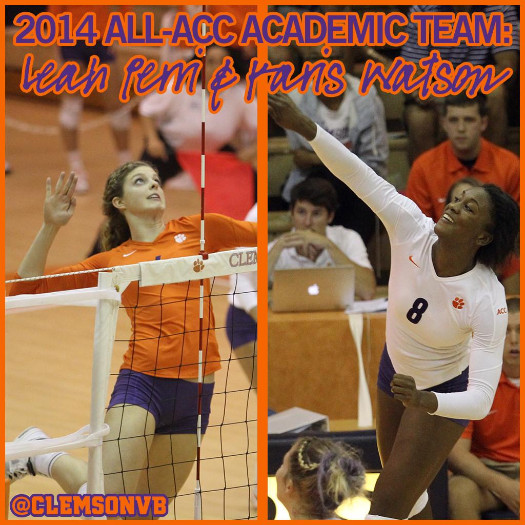 Perri & Watson Named to All-ACC Academic Team