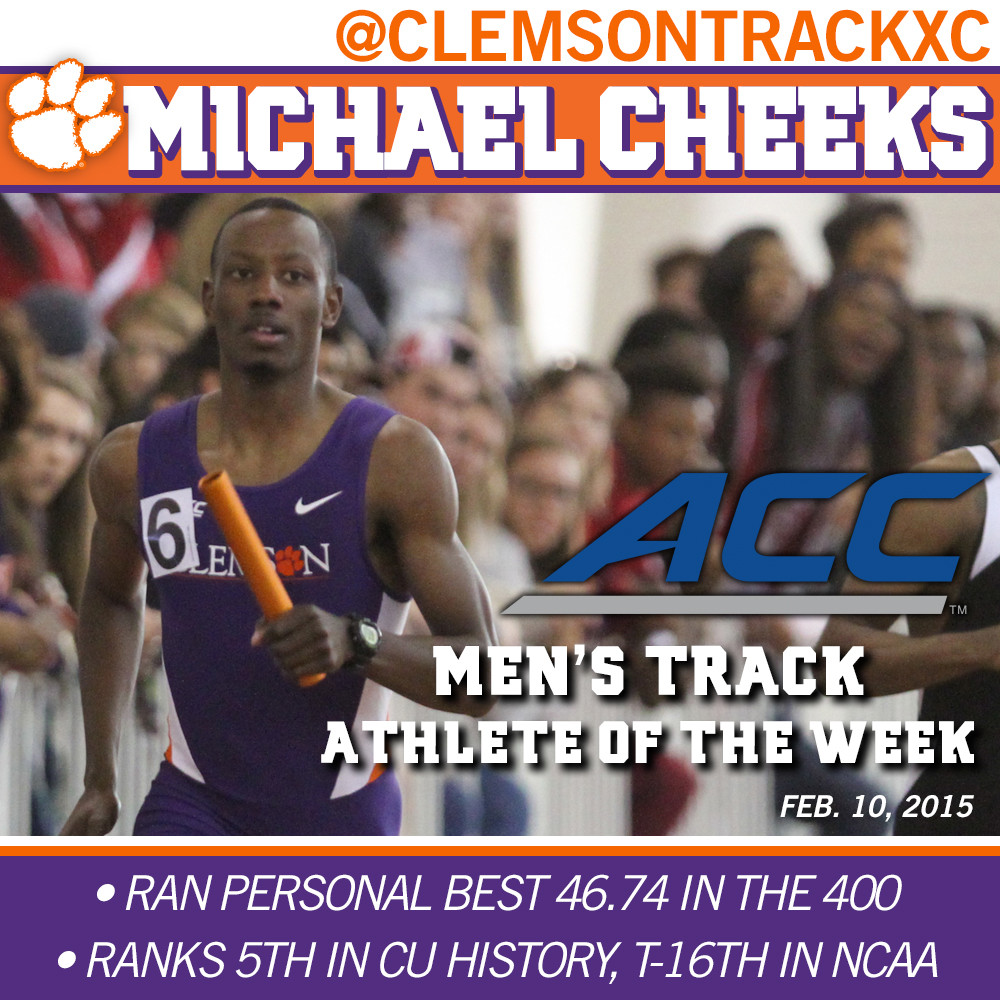 Cheeks Named ACC Men?s Track Athlete of the Week