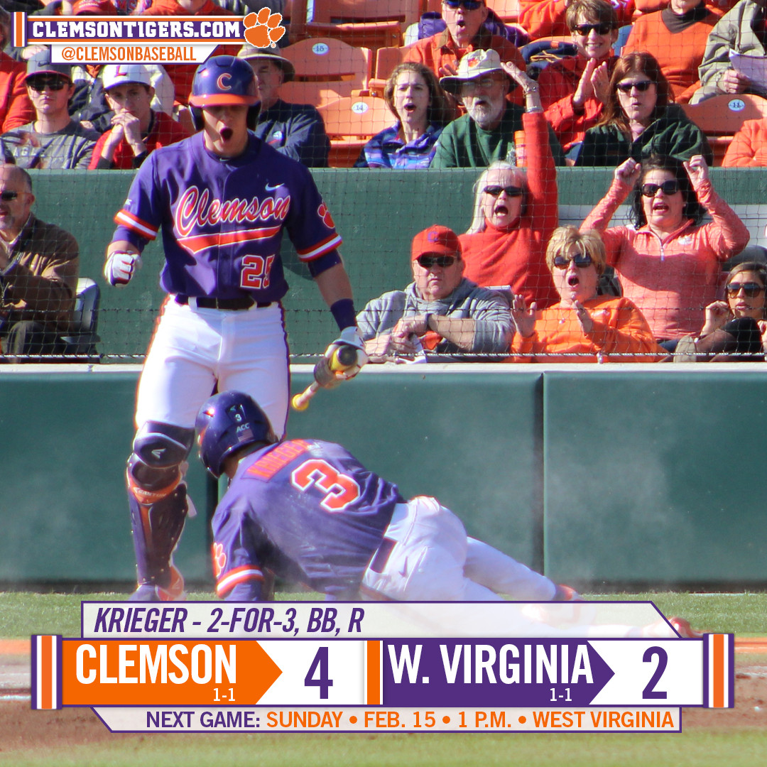 No. 24 Tigers Rebound With 4-2 Win Over West Virginia on Saturday
