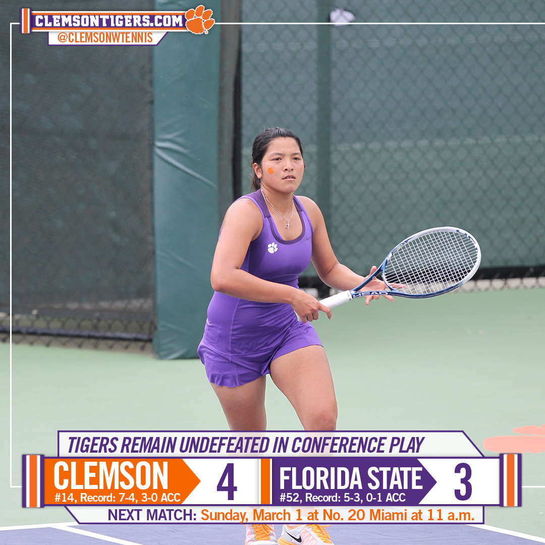 Tigers Rally to Beat Seminoles, Move to 3-0 in ACC Play