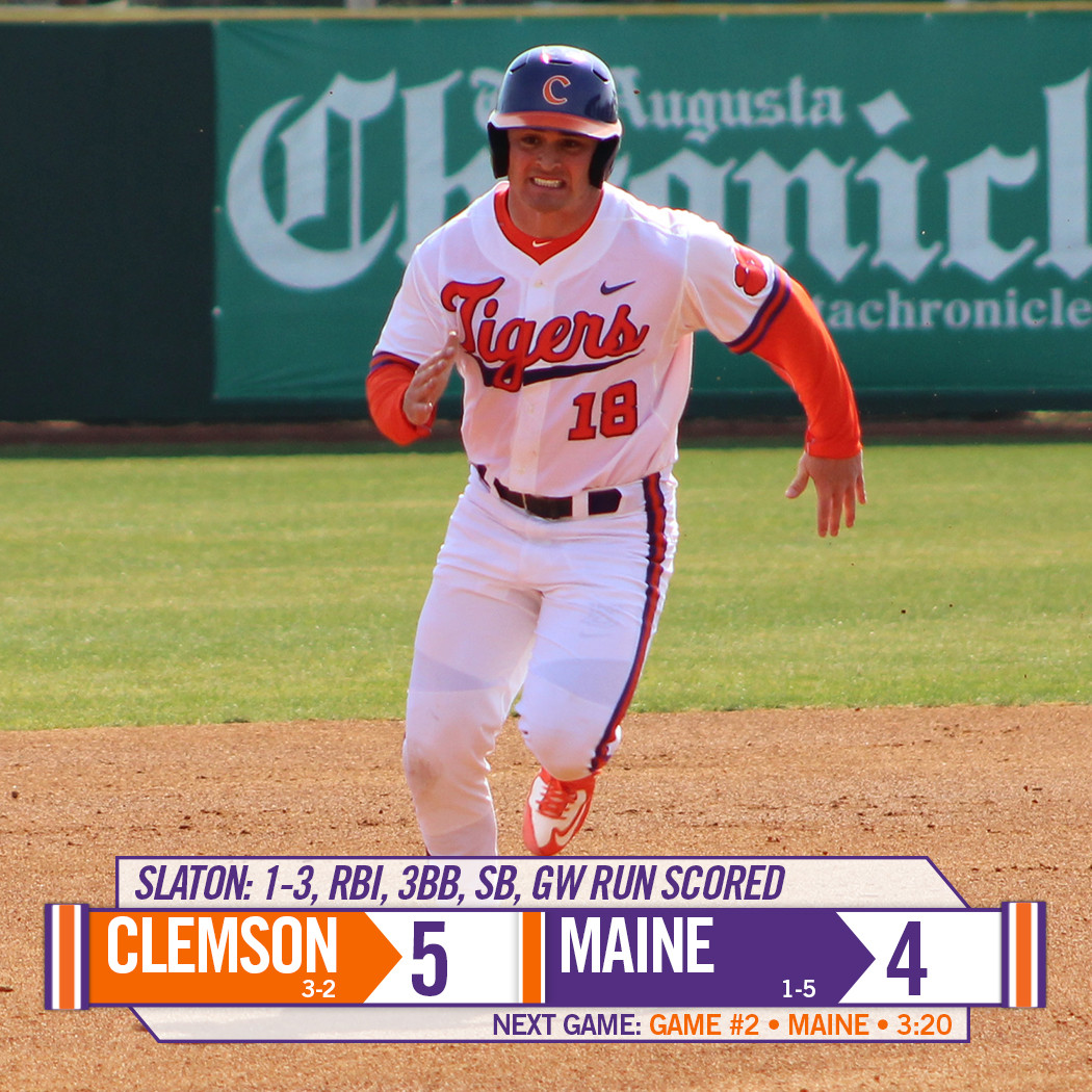 Tigers Top Maine 5-4 in 14 Innings in First Game of Doubleheader Saturday