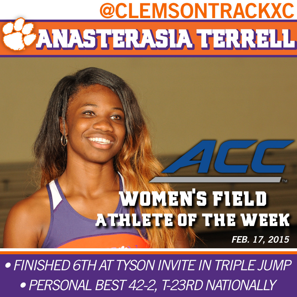Terrell Named ACC Field Athlete of the Week