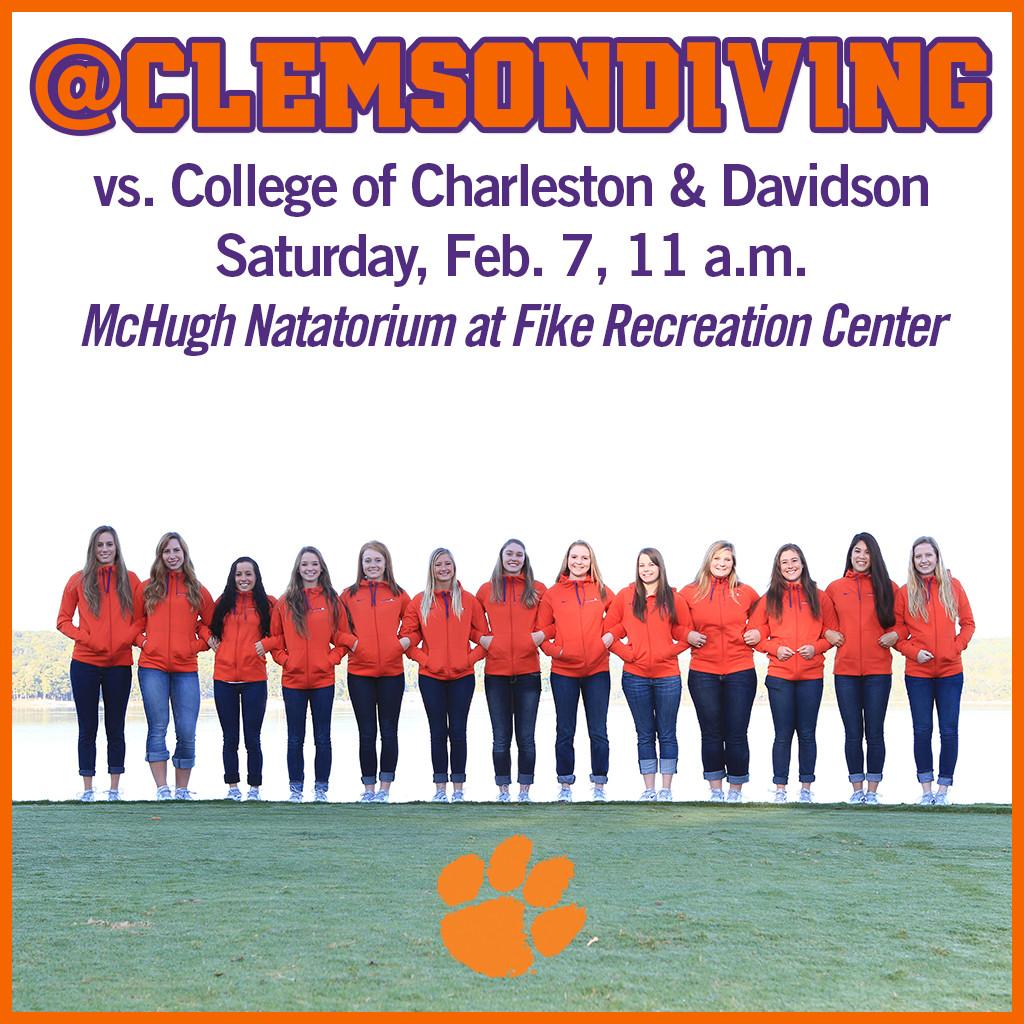 Tigers Welcome College of Charleston, Davidson Saturday