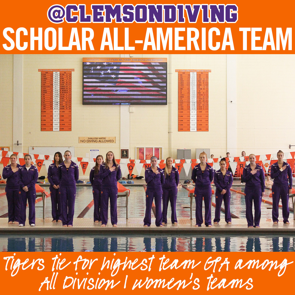 Clemson Named Scholar All-America Team, Ties for Highest GPA among All DI Women?s Teams