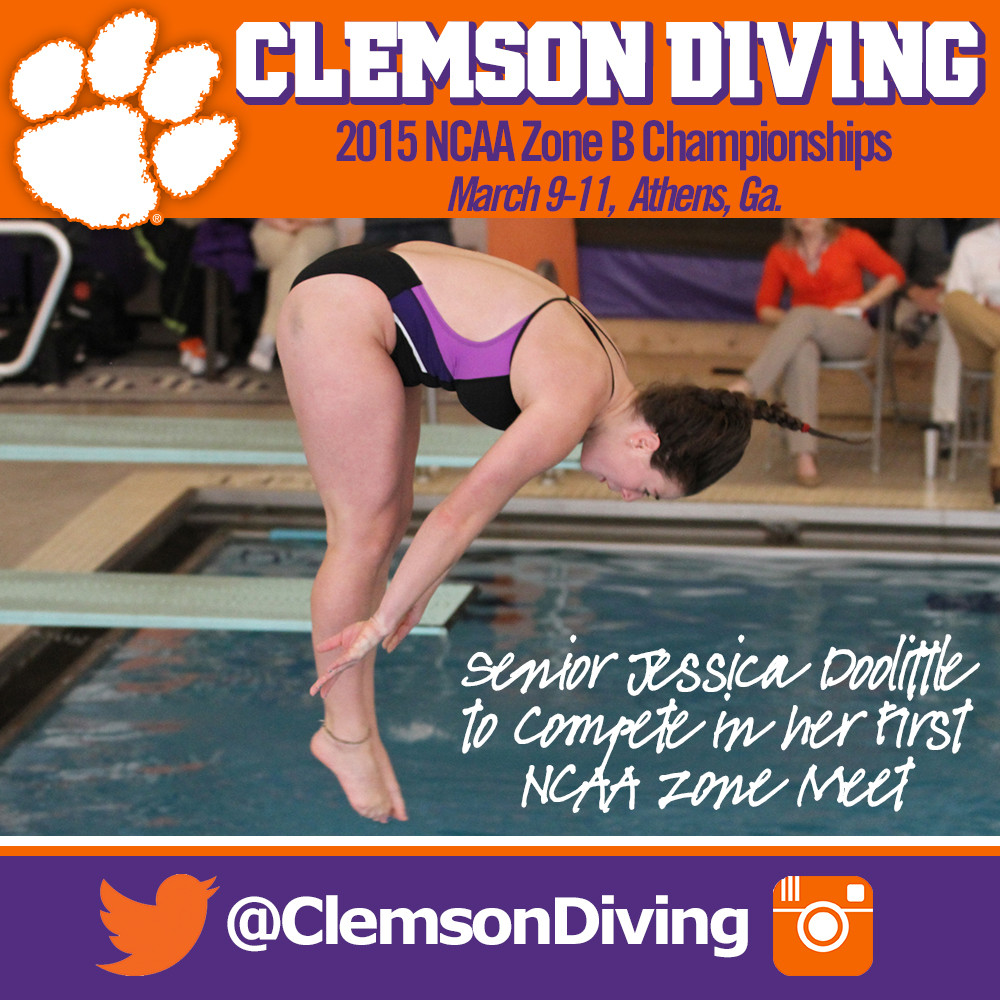 Tigers Open NCAA Zone Diving Championships Monday in Athens