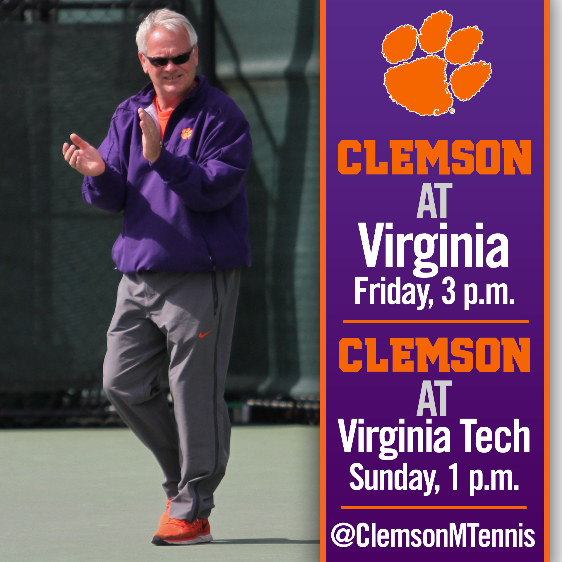 Clemson Heads North to Face No. 7 Virginia, No. 15 Virginia Tech This Weekend