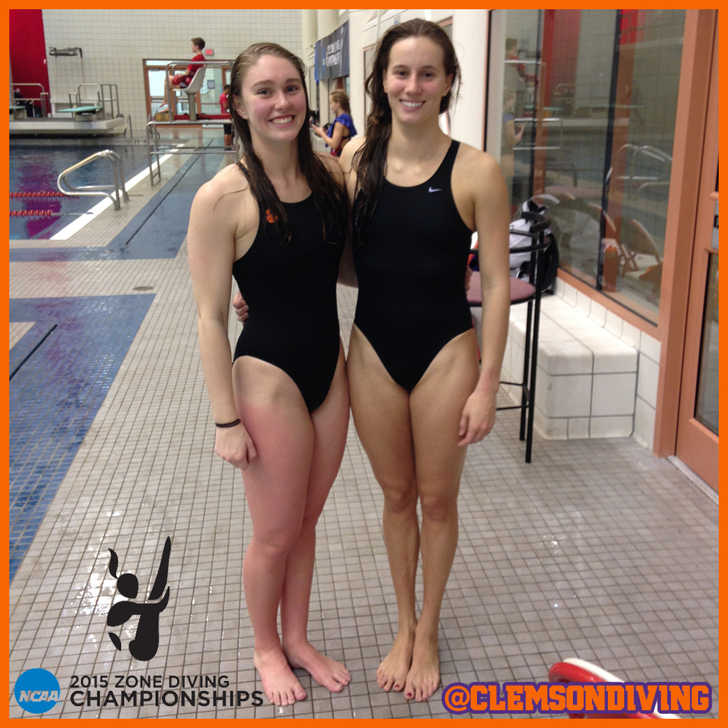 Braun & Helwagen Lead Tigers in Platform at NCAA Zone Championships