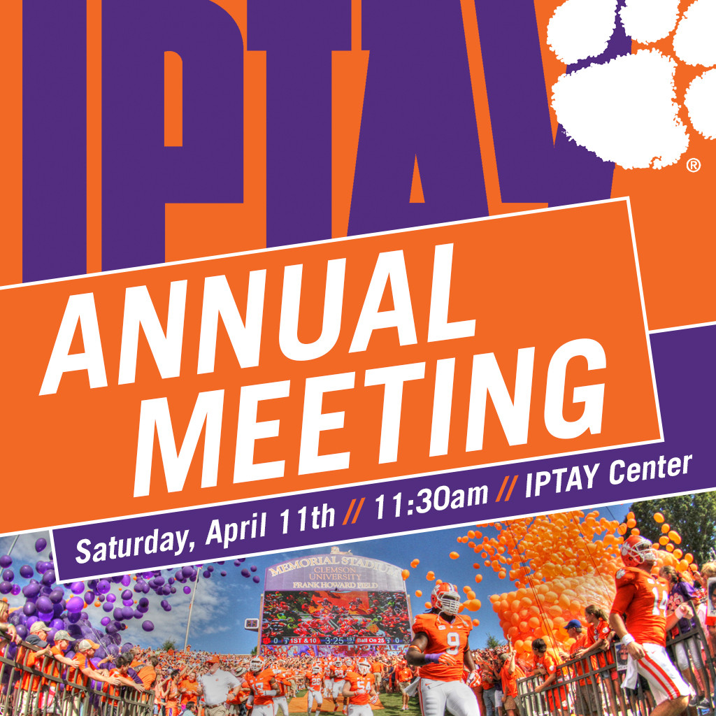 IPTAY Annual Meeting Set For April 11th