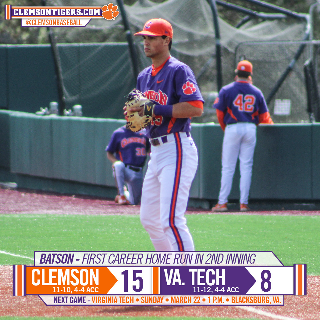 Tigers Down Virginia Tech 15-8