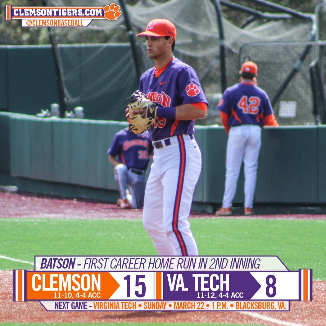 Tigers Down Virginia Tech 15-8