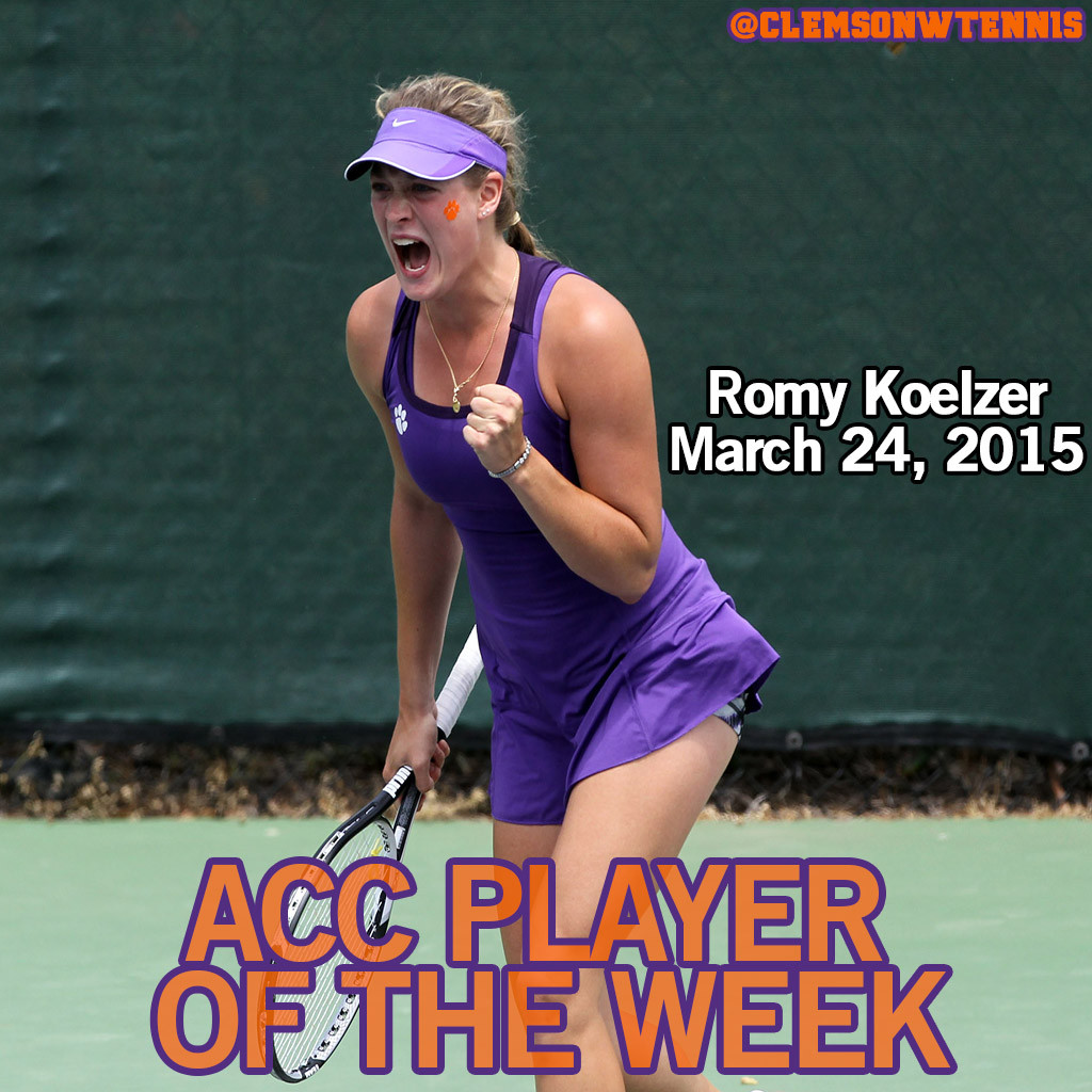 Koelzer Named ACC Player of the Week