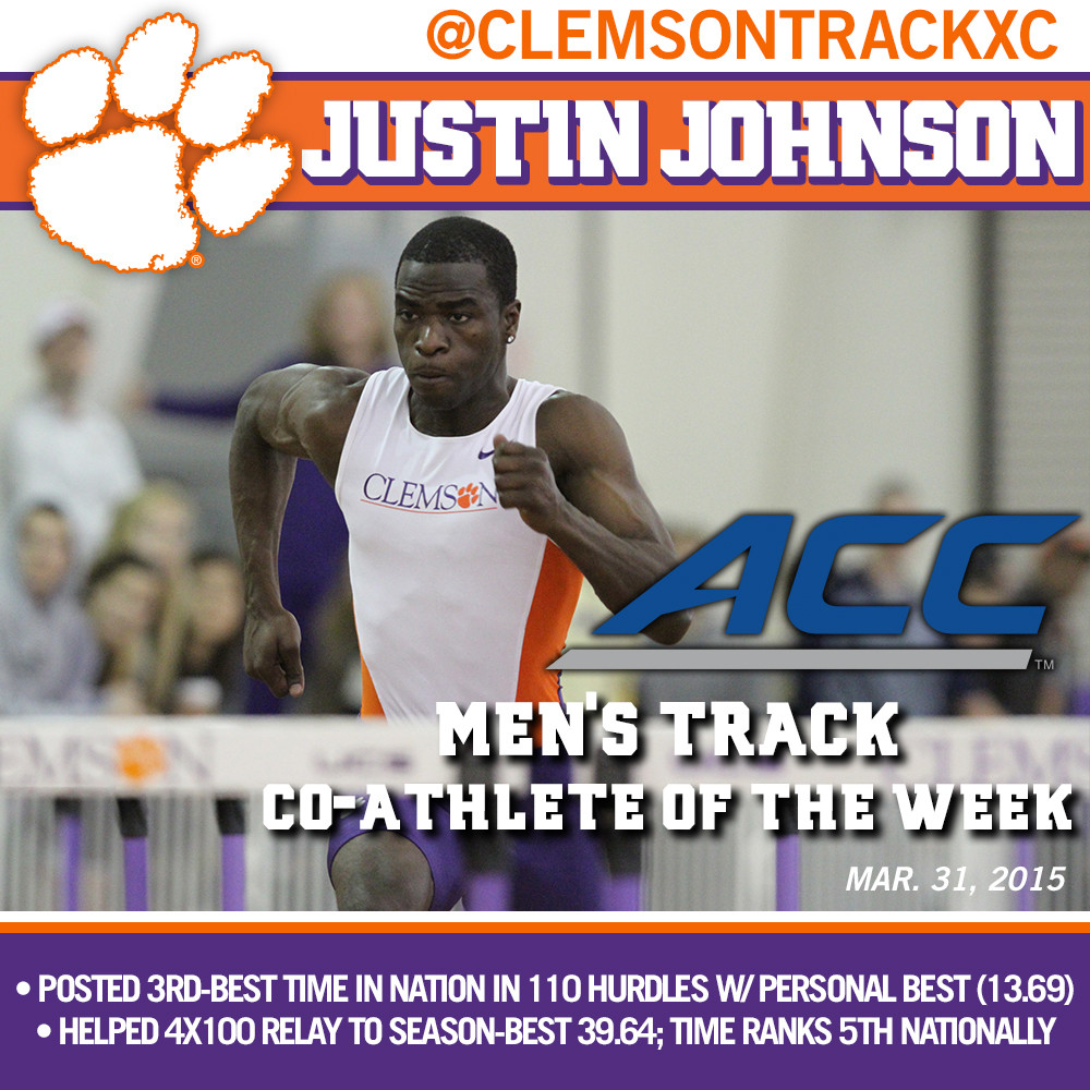 Johnson ACC Men?s Track Co-Athlete of the Week