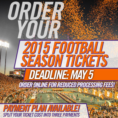 2015 Football Season Tickets on Sale Now