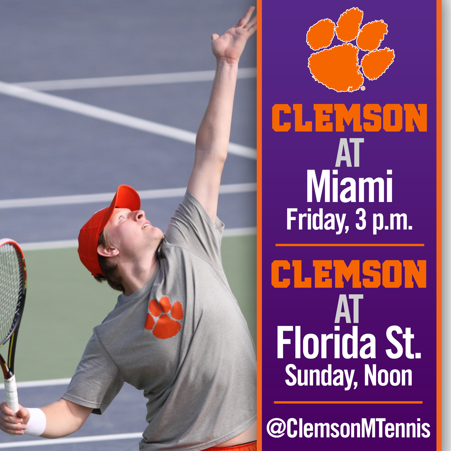 Clemson Visits Miami, Florida State This Weekend
