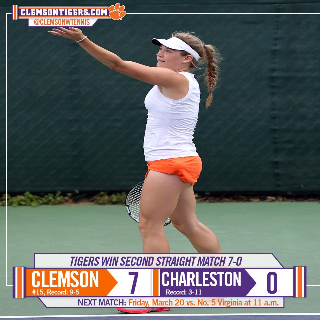 Tigers Sweep College of Charleston 7-0