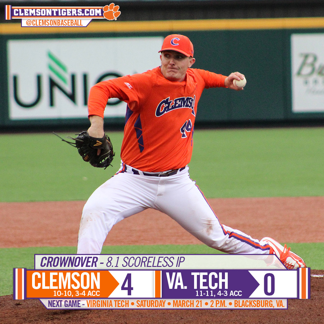 Tigers Top Hokies 4-0 in 10
