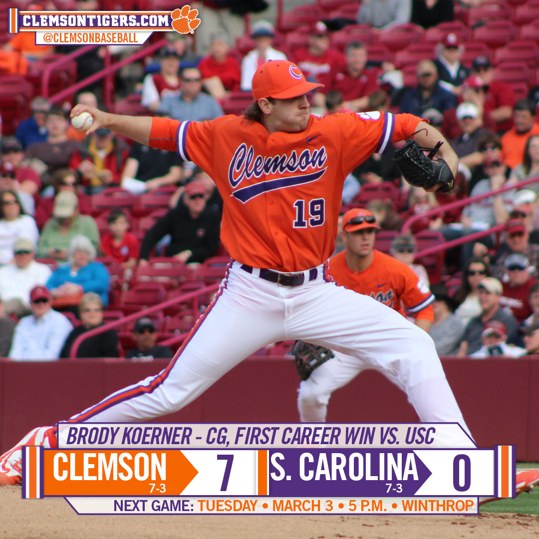 Tigers Top No. 8 Gamecocks 7-0
