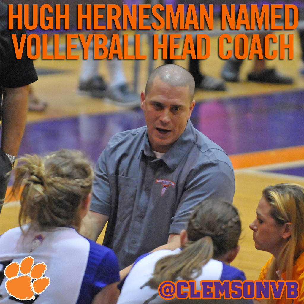 Hugh Hernesman Named Clemson Volleyball Head Coach