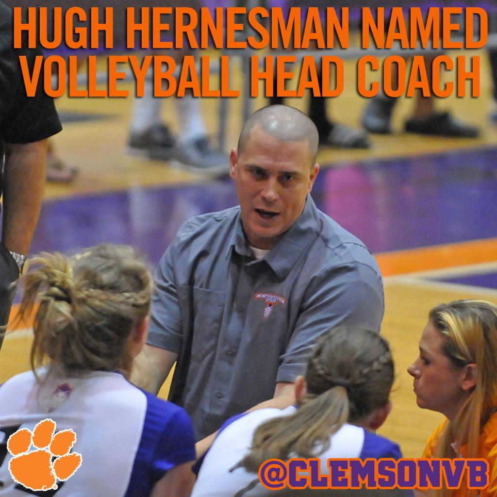 Hugh Hernesman Named Clemson Volleyball Head Coach