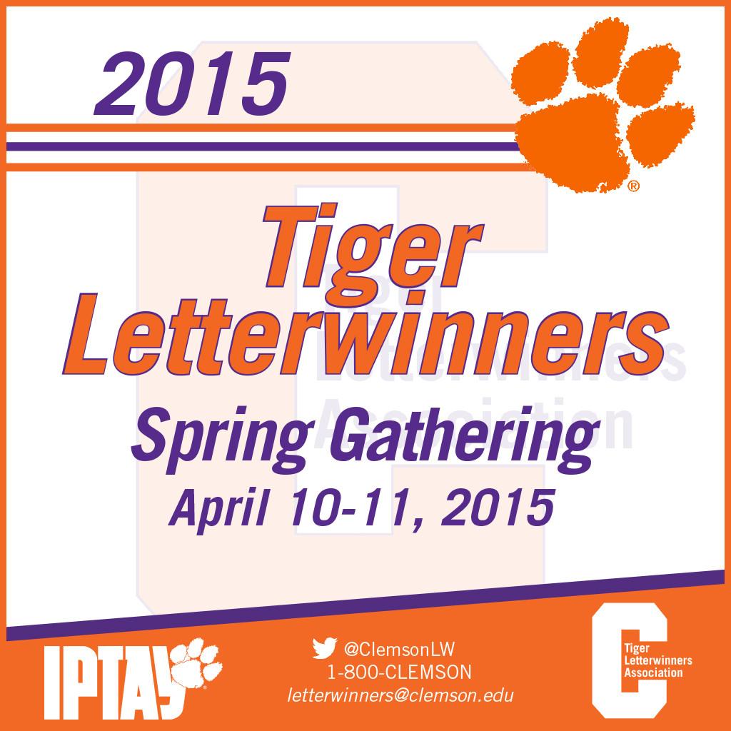 2015 Tiger Letterwinners Spring Gathering