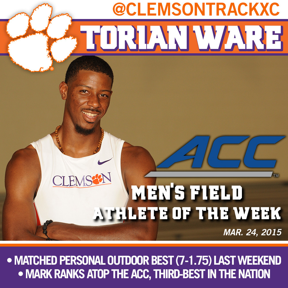 Ware ACC Men?s Field Athlete of the Week