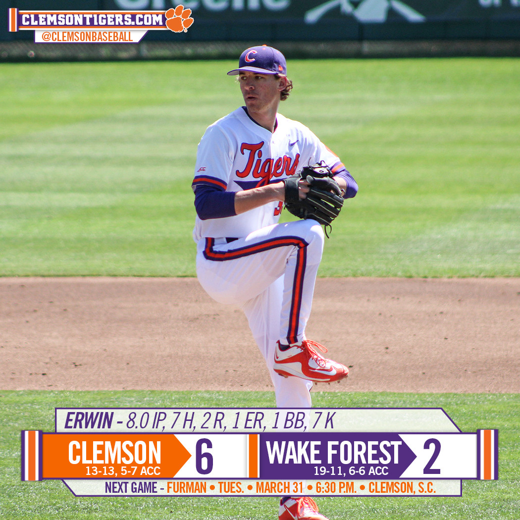 Tigers Defeat Wake Forest 6-2