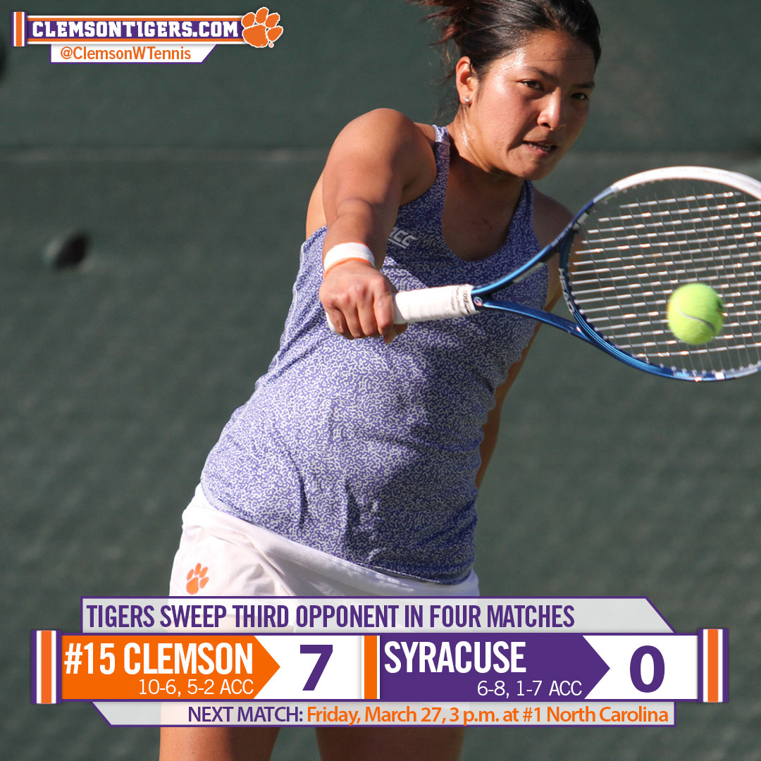 #15 Tigers Sweep Syracuse on the Road
