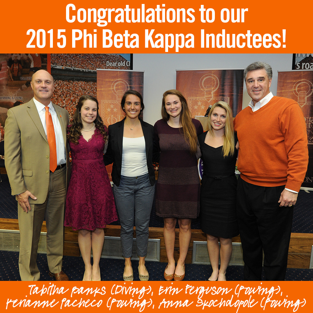 Four Clemson Student-Athletes Inducted Into Phi Beta Kappa Society