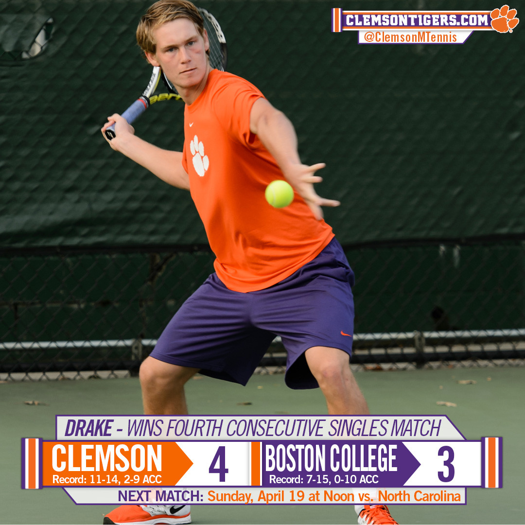 Clemson Grinds Out Tough 4-3 Win at BC Sunday