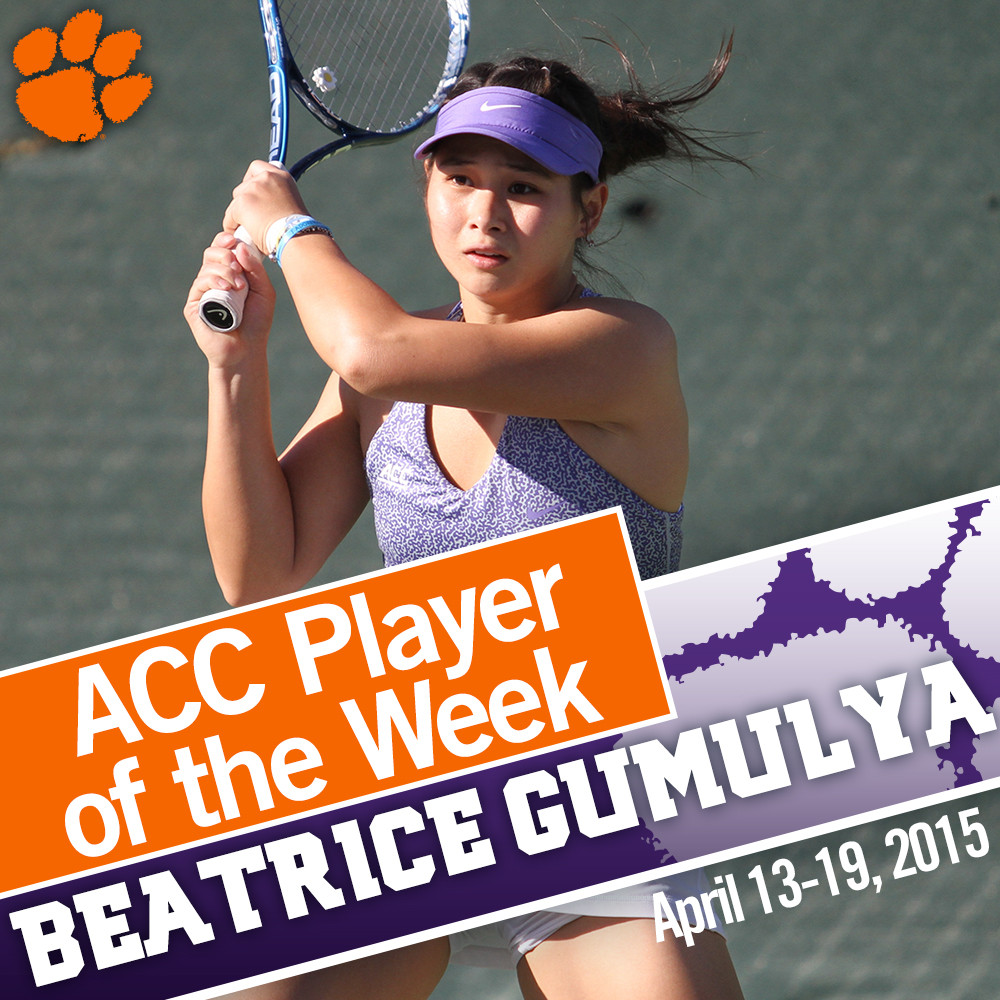 Gumulya Named ACC Player of the Week