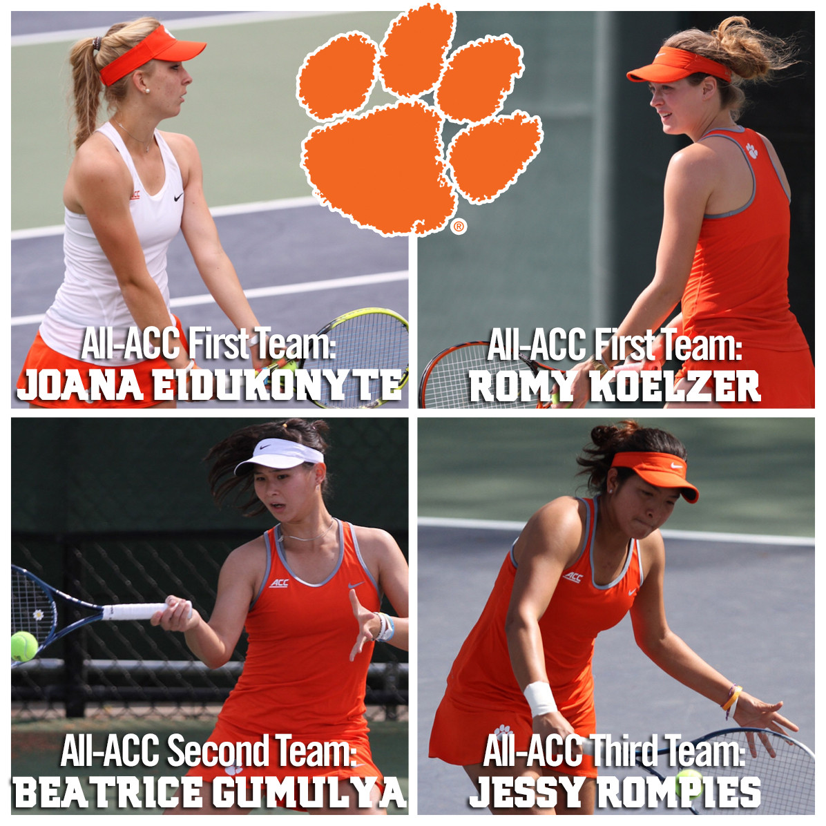 Tigers Earn League-Best Four Spots on All-ACC Team