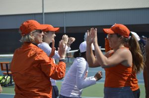 Women's Tennis || Winning Points at No. 1-4 Singles vs. Georgia Tech, 4/4/15