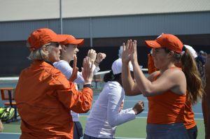 Play video: Women's Tennis || Winning Points at No. 1-4 Singles vs. Georgia Tech, 4/4/15