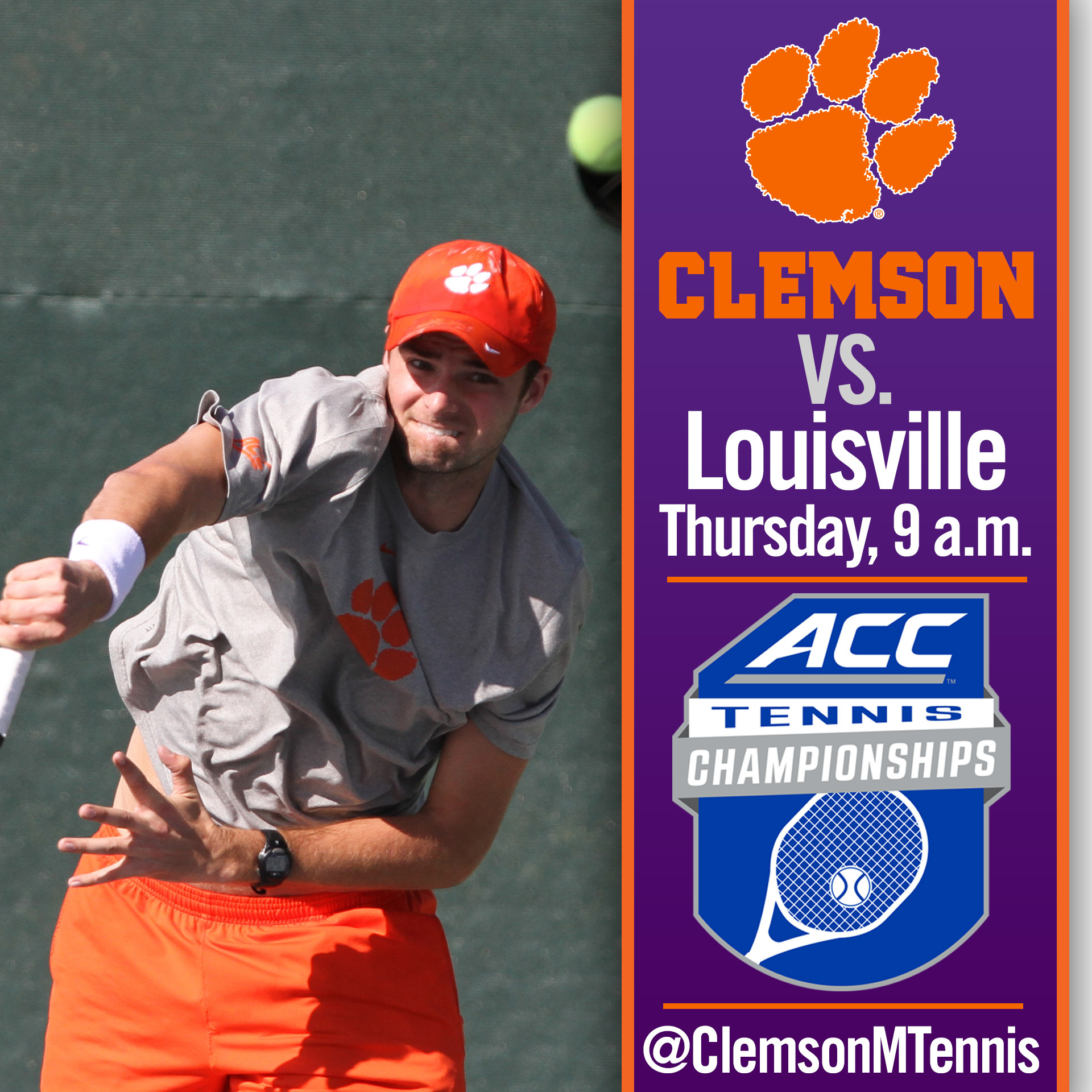 Clemson Faces Louisville in First Round of 2015 ACC Tournament on Thursday