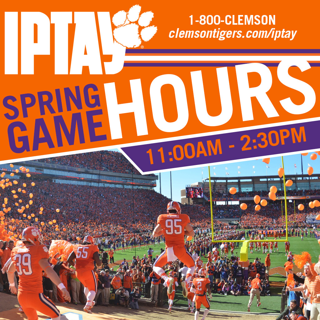 IPTAY/Ticket Office Spring Game Hours