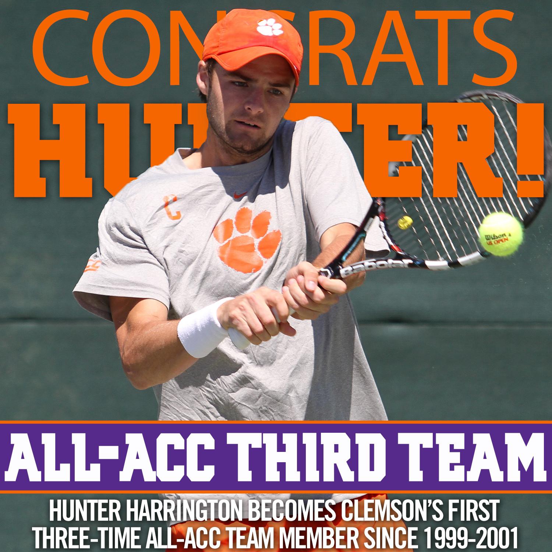 Hunter Harrington Earns Third Career All-ACC Honor