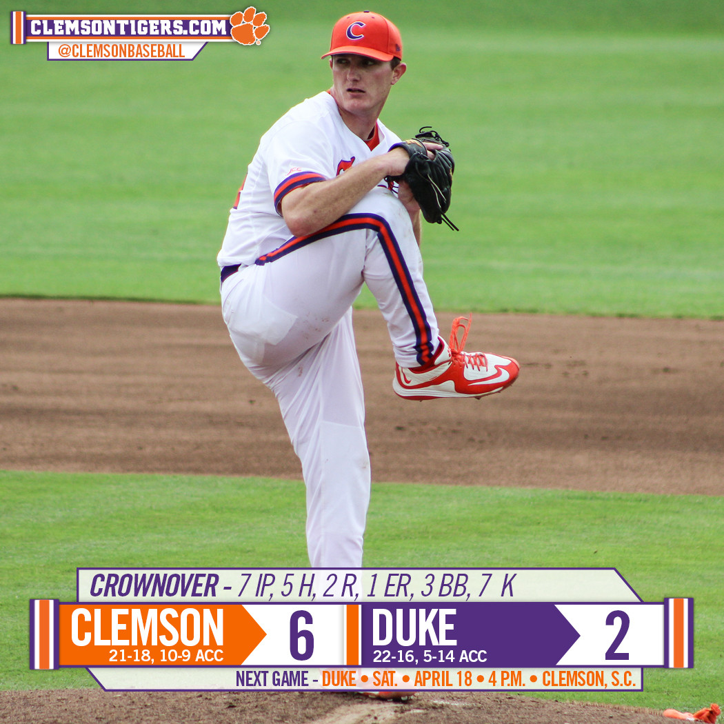 Tigers Top Duke 6-2 in Game 1