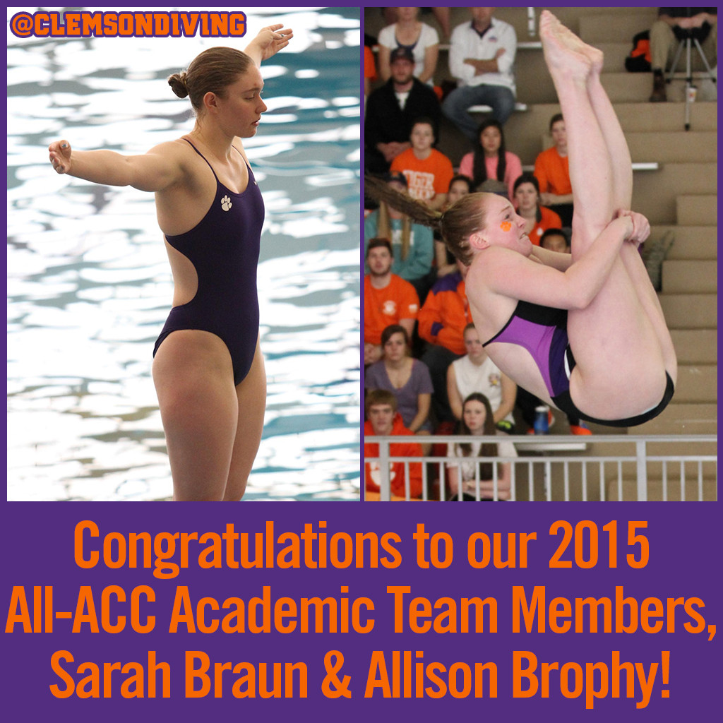 Braun & Brophy Named to 2015 All-ACC Academic Team