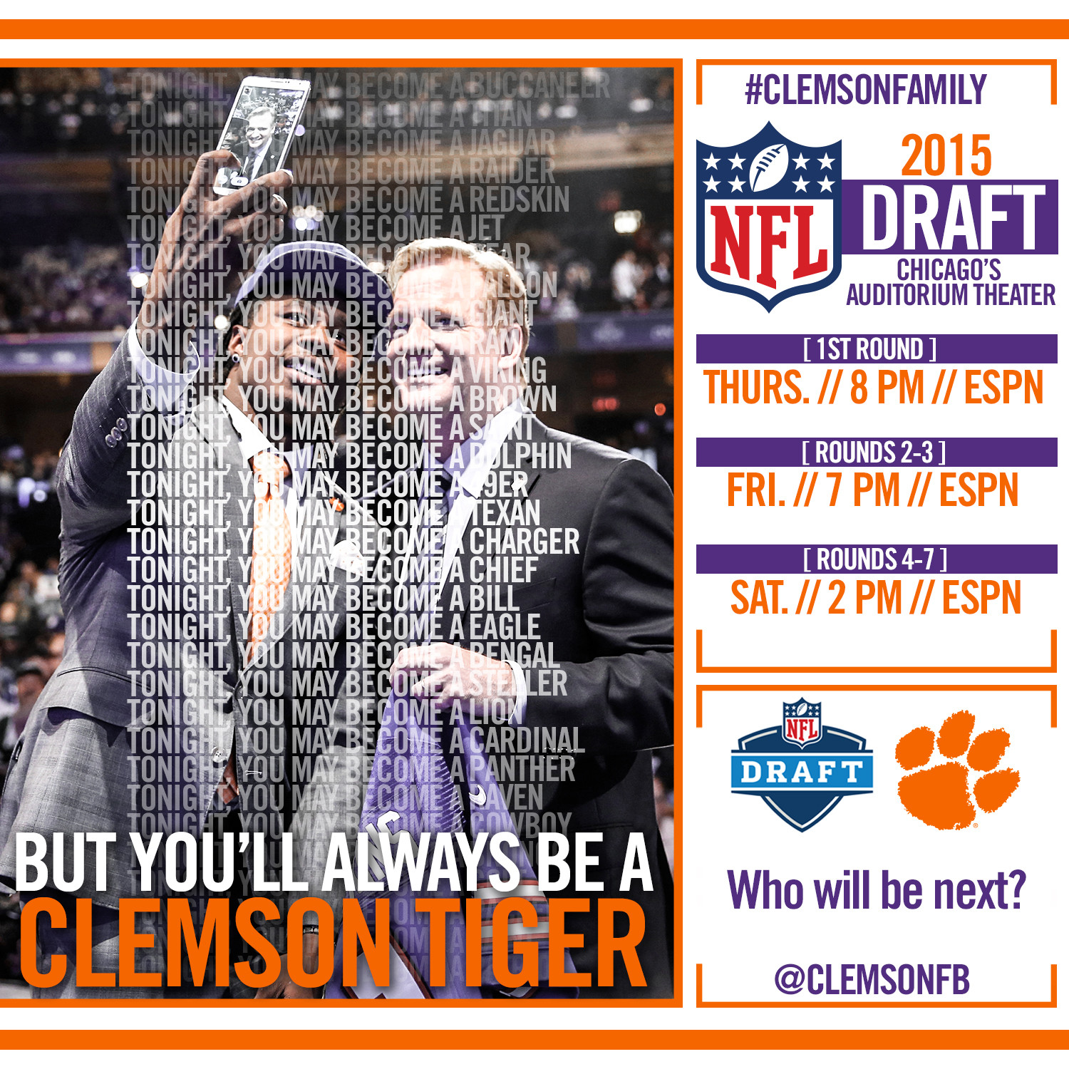 Beasley Should Give Clemson No. 1 Pick for Third Straight Year