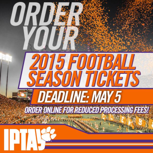 Reminder: Football Season Ticket & Parking Applications Due May 5